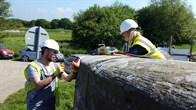 Volunteers working on the restoration of Church Bridge on Pocklington Canal. Courtesy of Alistair Anderson